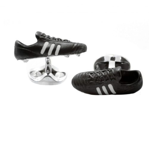 Deakin & Francis Sterling Silver & Enamel Football Boot Cufflinks