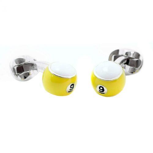 Deakin & Francis Sterling Silver & Enamel 9 Ball Cufflinks