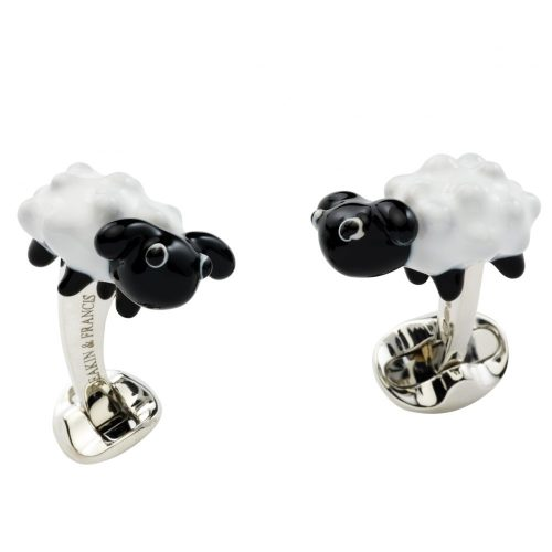Deakin and Francis Sterling Silver Sheep Cufflinks