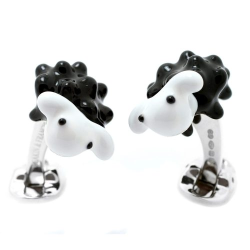 Deakin and Francis Sterling Silver Black Sheep Cufflinks