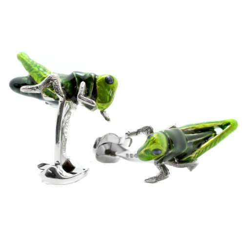 Deakin & Francis Sterling Silver Cricket Cufflinks