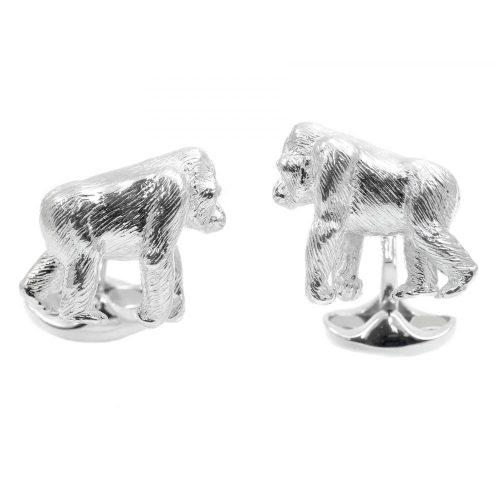 Deakin & Francis Sterling Silver Gorilla Cufflinks