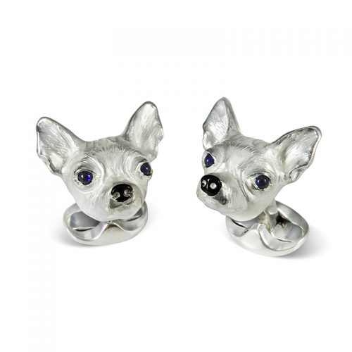 Deakin and Francis Sterling Silver Chihuahua Cufflinks