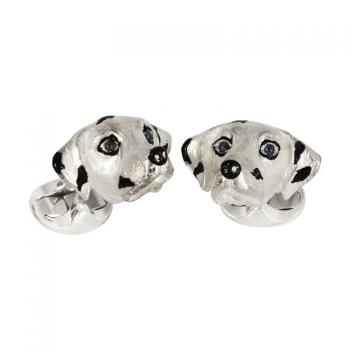 Deakin and Francis Sterling Silver Dalmatian Cufflinks