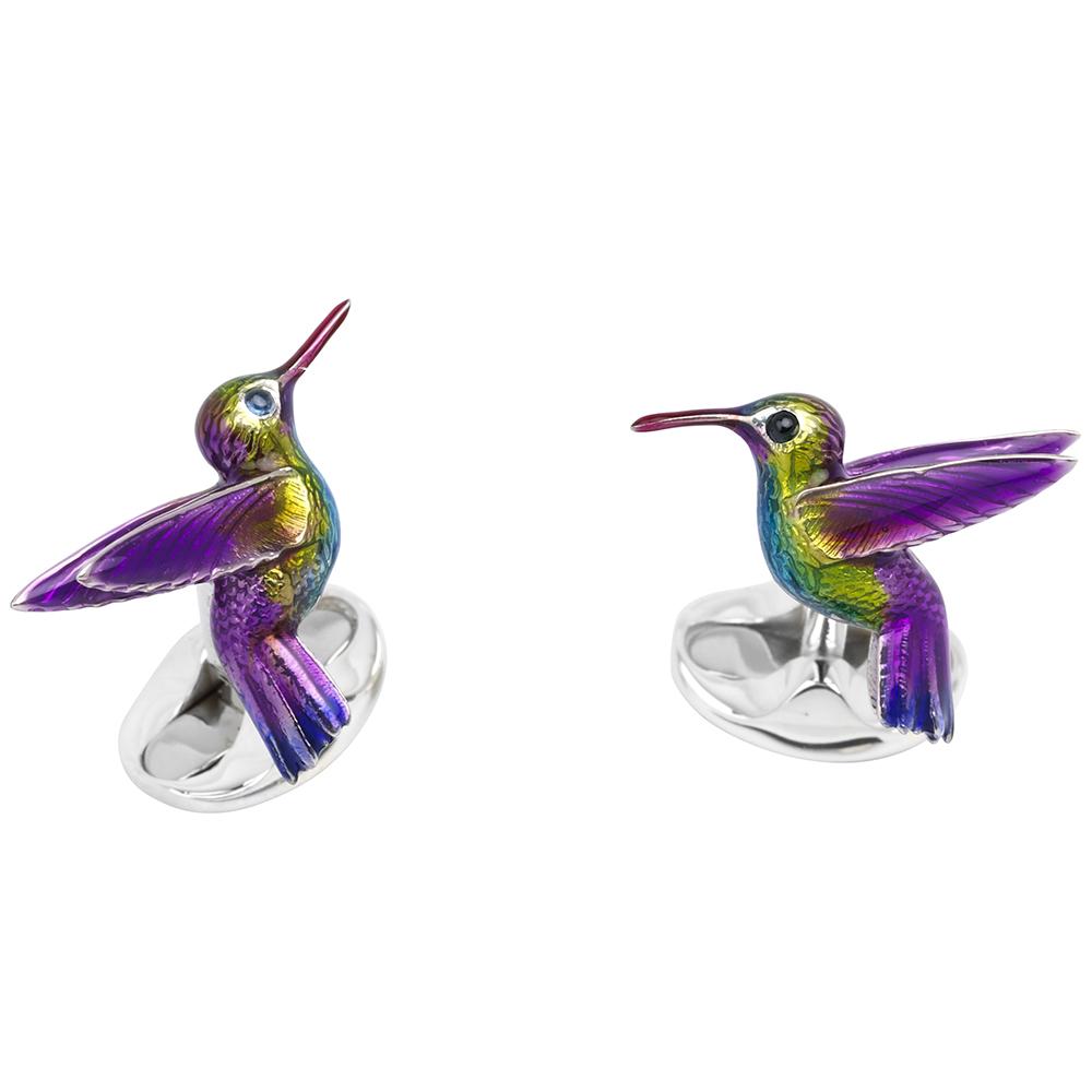 Deakin & Francis Sterling Silver Hummingbird Cufflinks