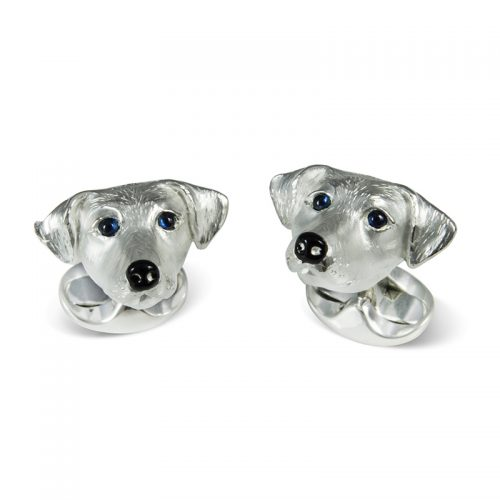 Deakin and Francis Sterling Silver Jack Russell Head Cufflinks
