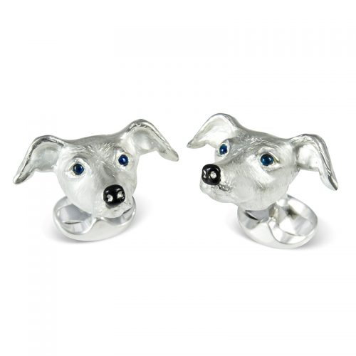 Deakin and Francis Sterling Silver Whippet Head Cufflinks