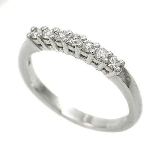 Classic Platinum Half Hoop Eternity Ring