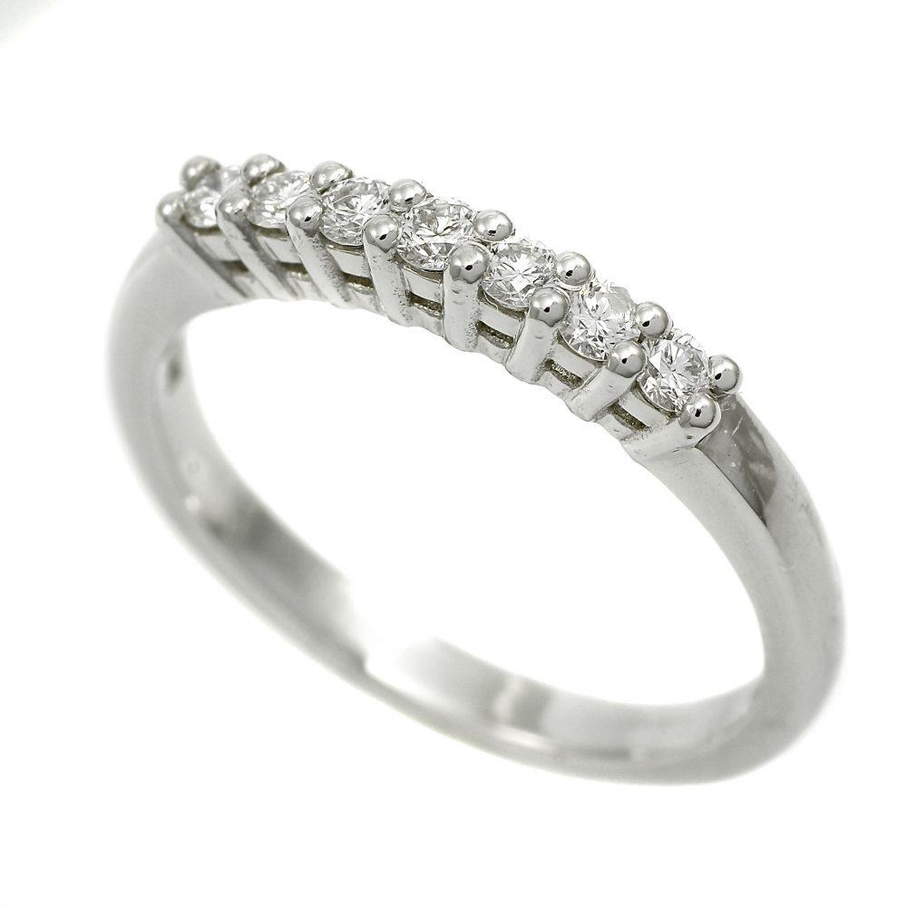 Classic Platinum Half Hoop Eternity Ring