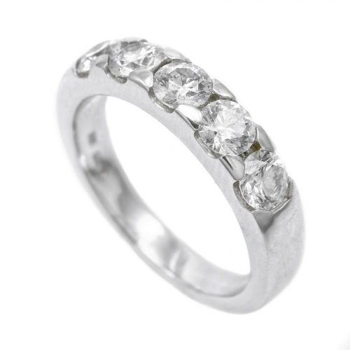 Modern Eternity Ring Platinum 1.16ct Diamonds