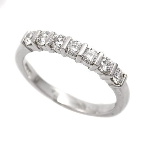 Platinum Half Hoop Eternity Ring 0.50ct