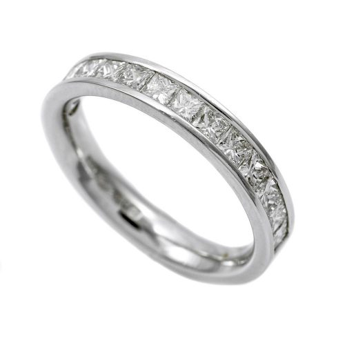 Platinum Half Hoop Eternity Ring 0.80ct