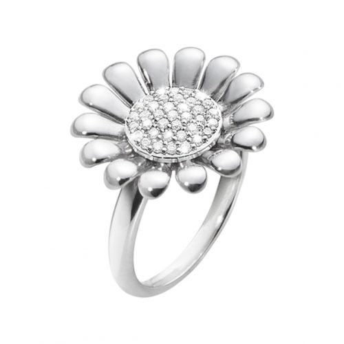 Georg Jensen Sunflower Diamond Ring 0.17ct