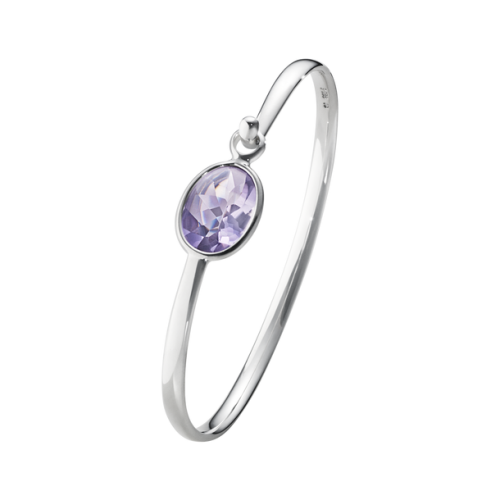 Georg Jensen Sterling Silver & Amethyst Savannah Bangle