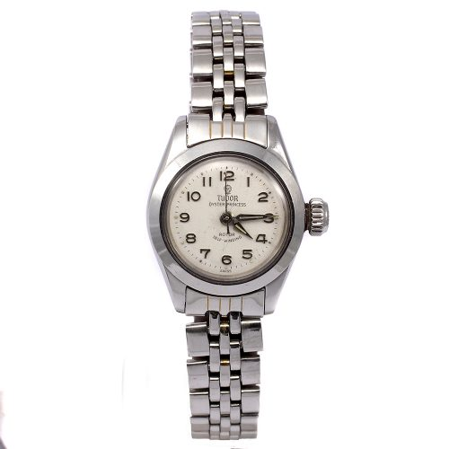 Vintage Tudor Oyster Princess Automatic Stainless Steel 1950s Ladies Watch