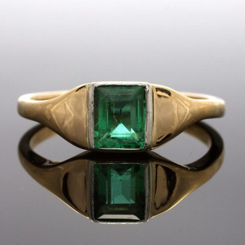 18ct Gold Emerald Dress Ring