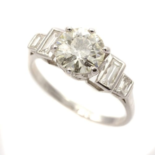 Platinum 6 claw 5 stone 1.13ct diamond ring