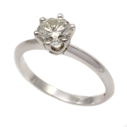 Platinum 6 claw 1.01ct round brilliant cut diamond solitaire ring