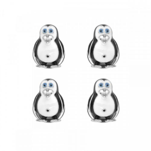 Deakin & Francis Sterling Silver Penguin Dress Stud Set