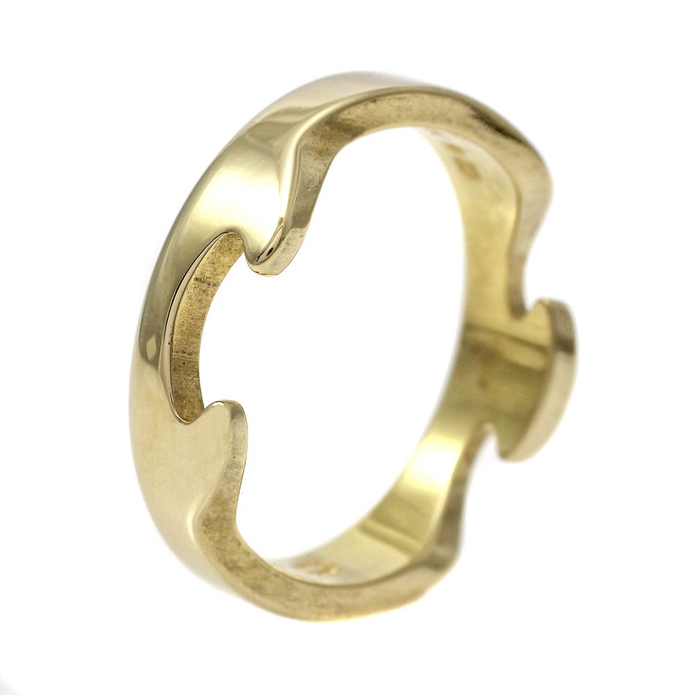 Georg Jensen Fusion Ring 18ct Yellow Gold End Piece