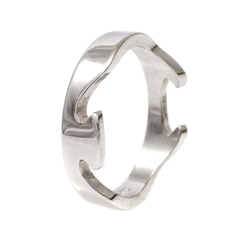 Georg Jensen Fusion Ring 18ct White Gold End Piece Size 59