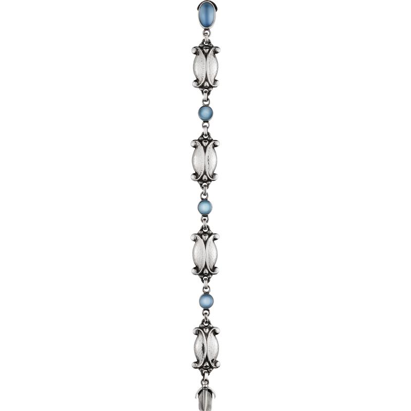 Georg Jensen Moonlight Blossom Bracelet 11 Sterling Silver & Moonstone