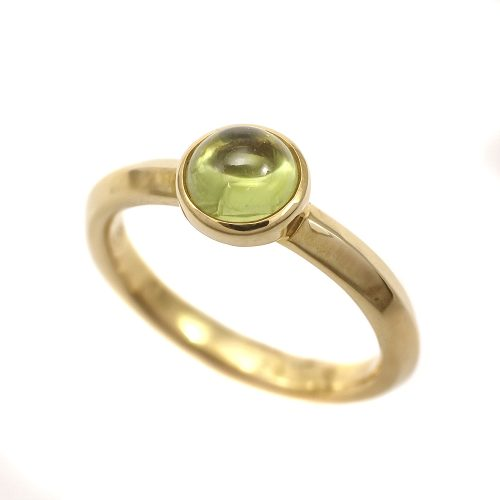 Georg Jensen Moonrise Peridot Ring 18ct Yellow Gold 1567A Size 54