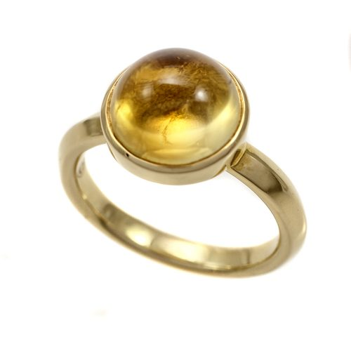 Georg Jensen Moonrise Citrine Ring 18ct Yellow Gold 1567C Size 54