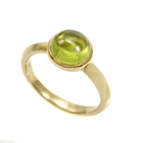 Georg Jensen Moonrise Peridot Ring 18ct Yellow Gold 1567B Size 54