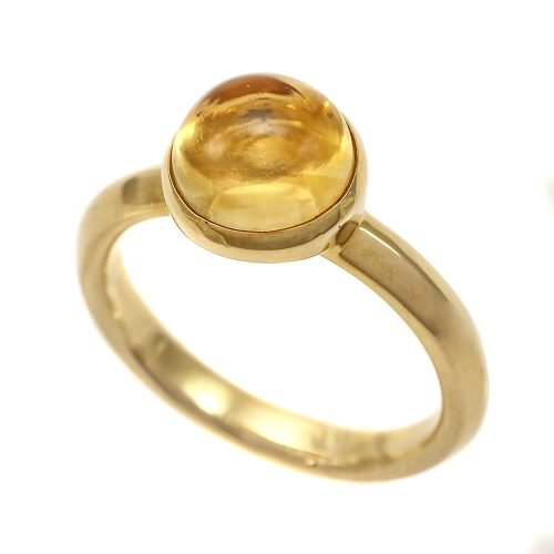 Georg Jensen Moonrise Citrine Ring 18ct Yellow Gold 1567B Size 54