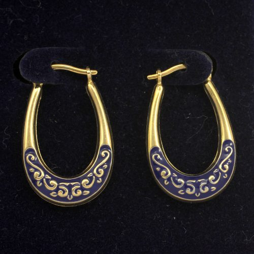 Royal Doulton 14ct Gold Hoop Earrings Limited Edition With Box & COA