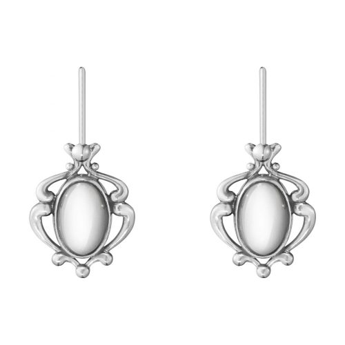 Georg Jensen 2018 Heritage Earrings Oxidised Sterling Silver