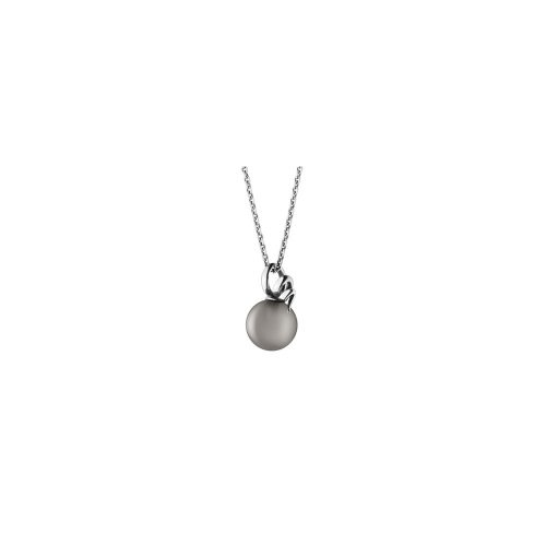 Georg Jensen Moonlight Blossom Pendant Sterling Silver & Grey Moonstone