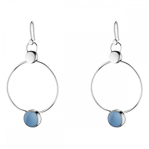 Georg Jensen Regitze Blue Jade Earrings 466B