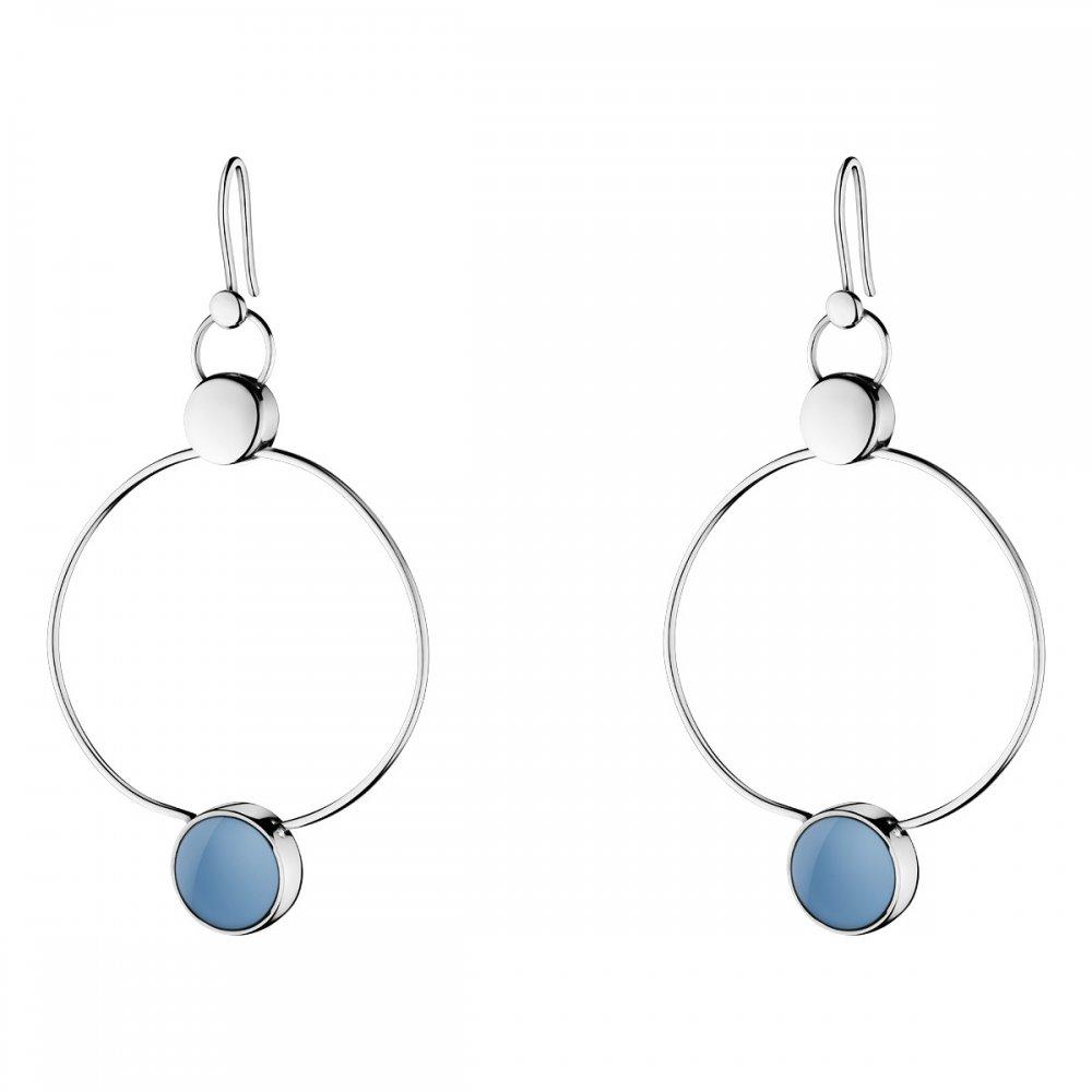 Georg Jensen Regitze Blue Jade Earrings 466B