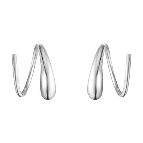 Georg Jensen Mercy Swirl Spiral Earrings 634A