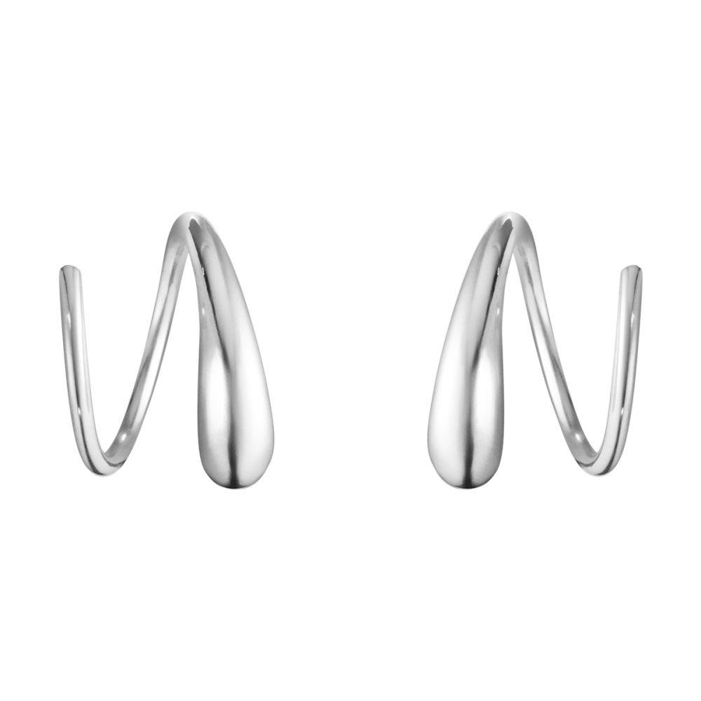 Georg Jensen Mercy Swirl Spiral Earrings 634A