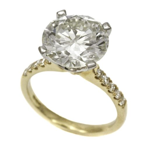 18ct Gold Diamond Solitaire Ring 4.75ct Round Brilliant Cut