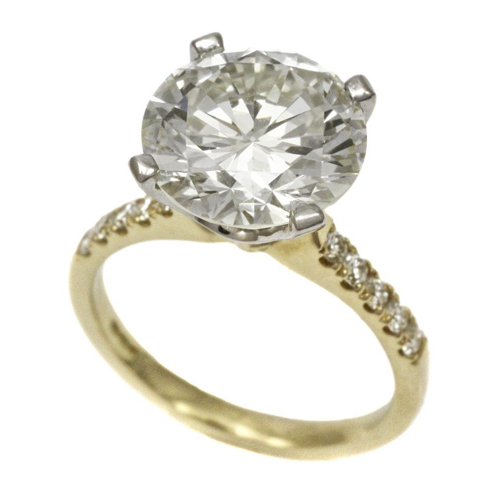 18ct Gold Diamond Solitaire Ring 4.75ct Round Brilliant Cut