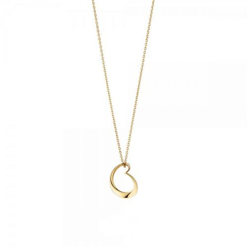 Georg Jensen 18ct Yellow Gold Artist Heart Pendant & Chain 2011