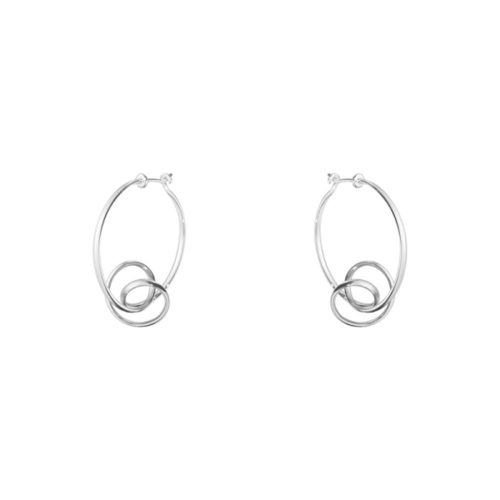 Georg Jensen Sterling Silver Forget-Me-Knot Earrings