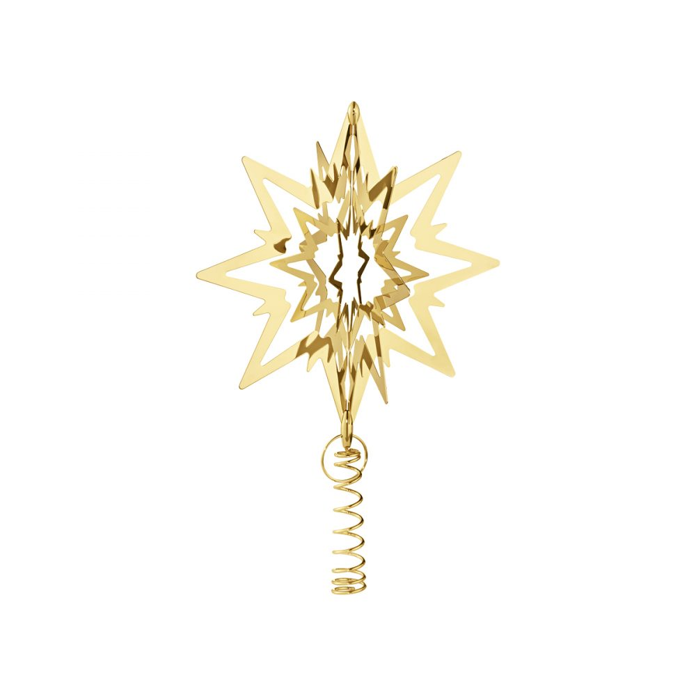 Georg Jensen 2019 Christmas Decorations Top Star Gold Plated Tree Topper Medium