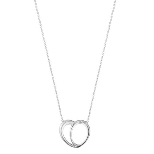 Georg Jensen Sterling Silver Offspring Heart Pendant & Chain