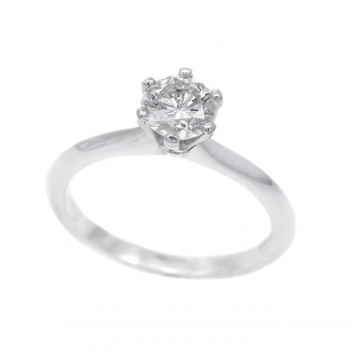 Platinum Round Brilliant Cut 0.80ct Diamond Solitaire Ring