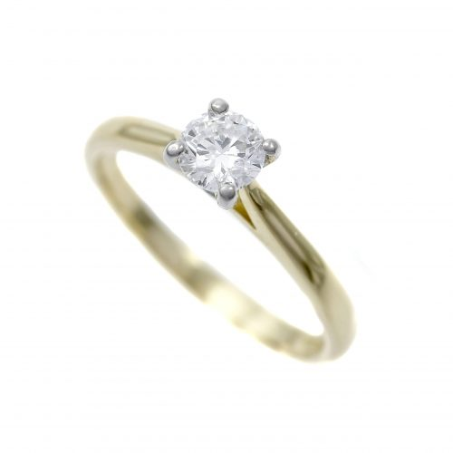 Diamond Solitaire Ring 0.44ct 18ct Platinum & Yellow Gold