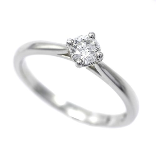Platinum Round Brilliant Cut 0.30ct Diamond Solitaire Ring