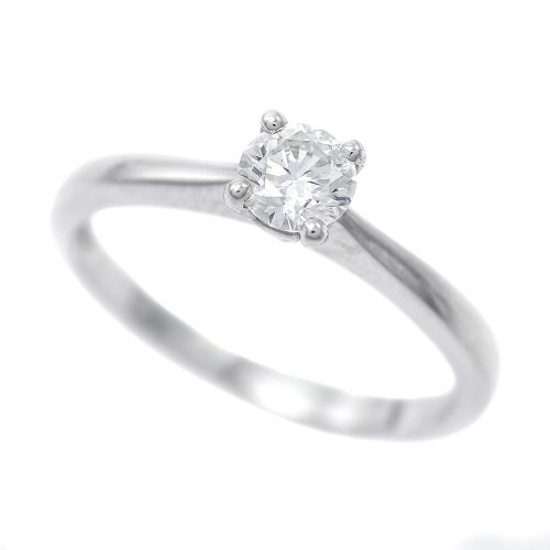 Platinum Round Brilliant Cut 0.36ct Diamond Solitaire Ring